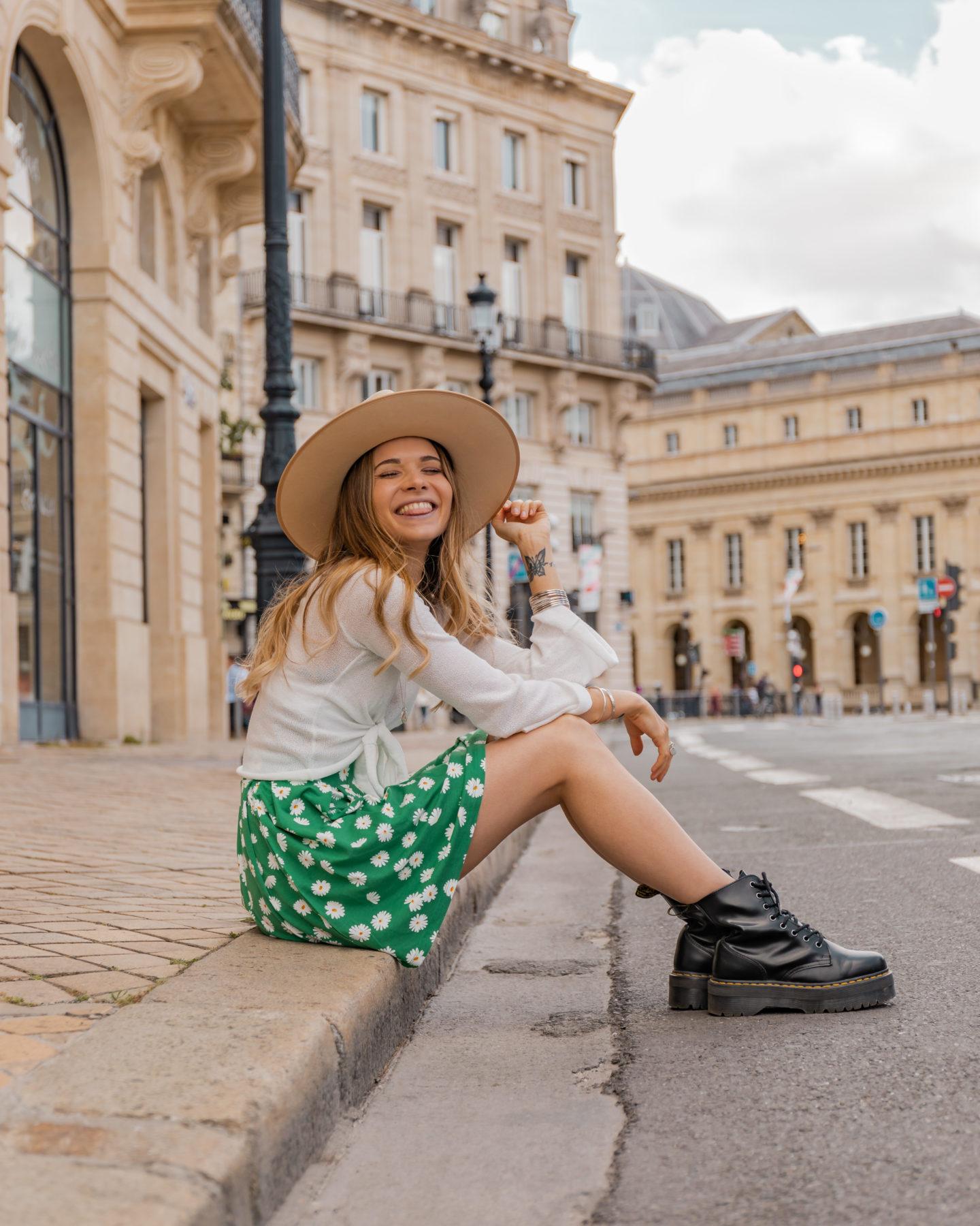 Perfect green skirt !