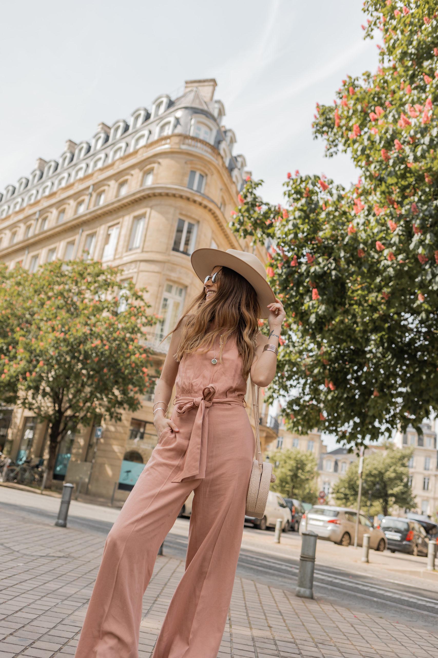 Pink rustic jumpsuit