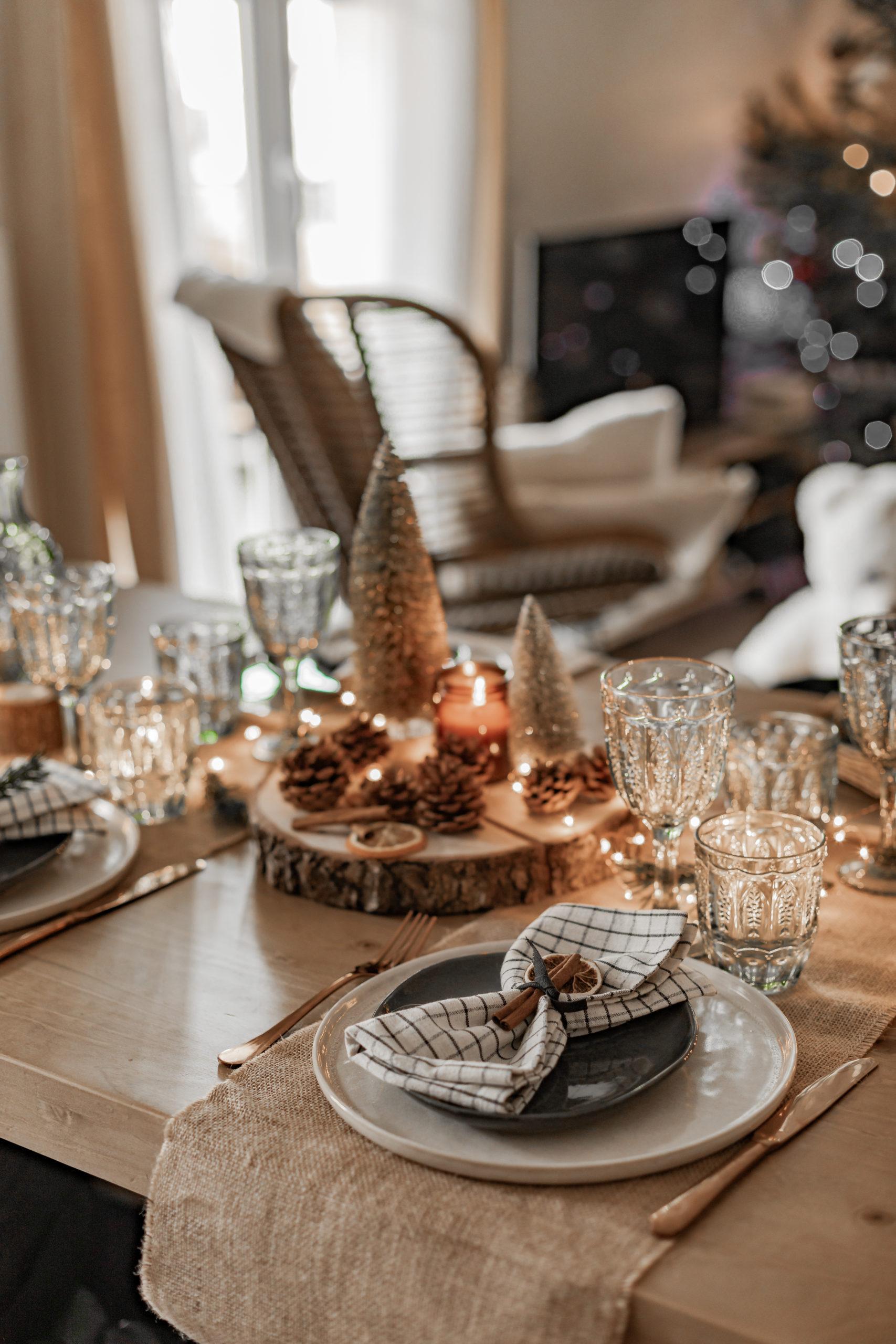Ma table de Noël campagne chic