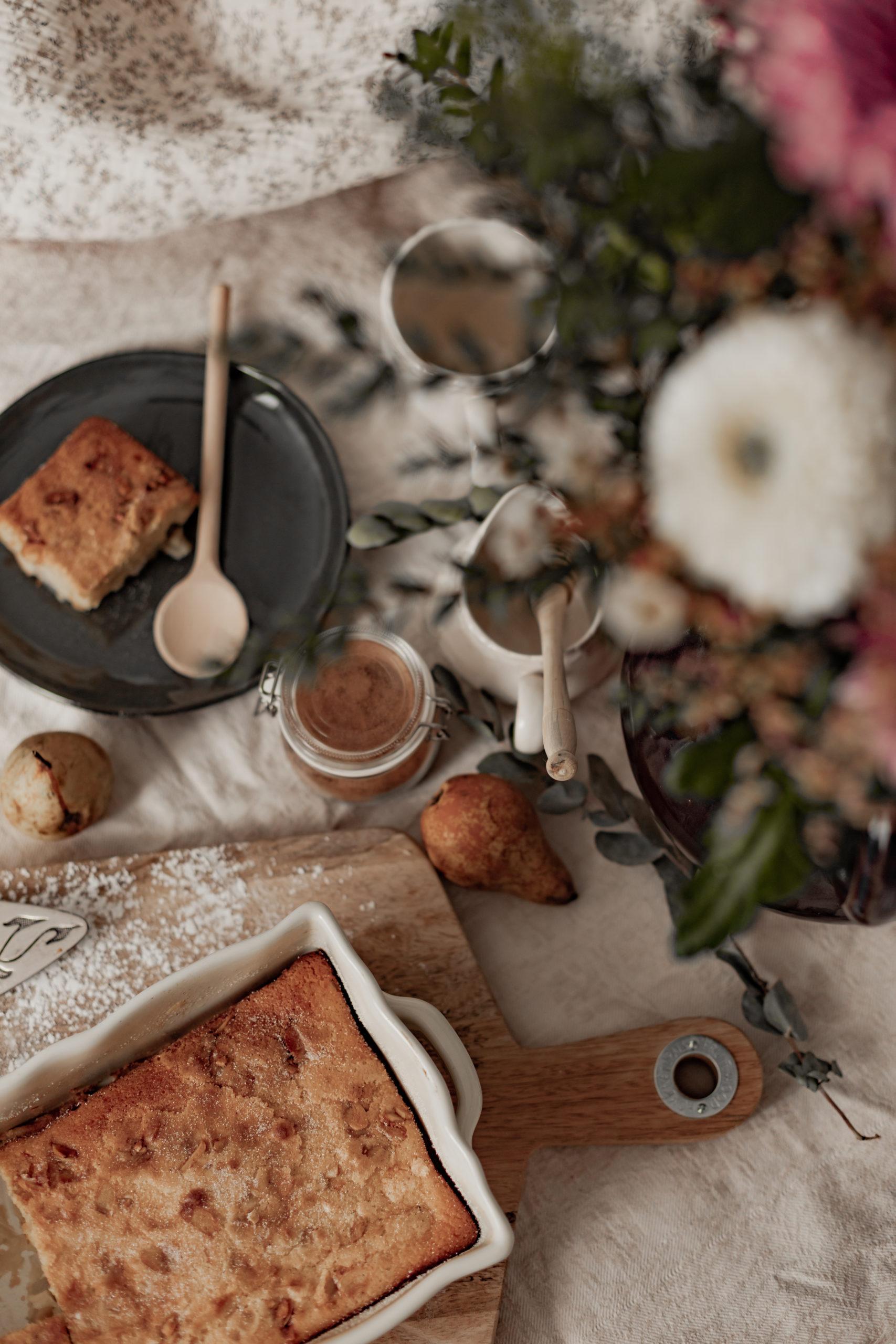Clafoutis aux poires & aux amandes