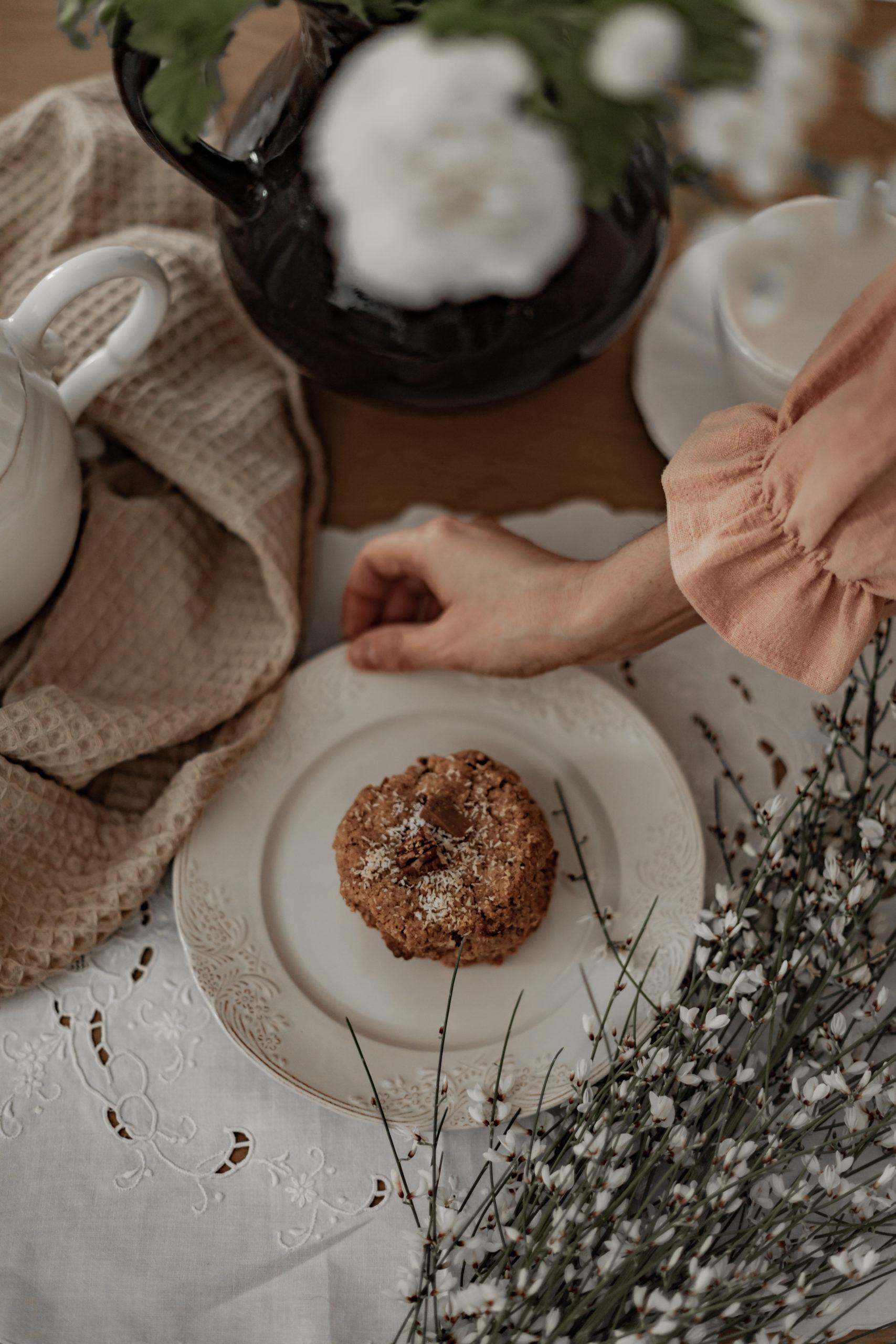 Cookies sans gluten au chocolat & aux noix de pécan