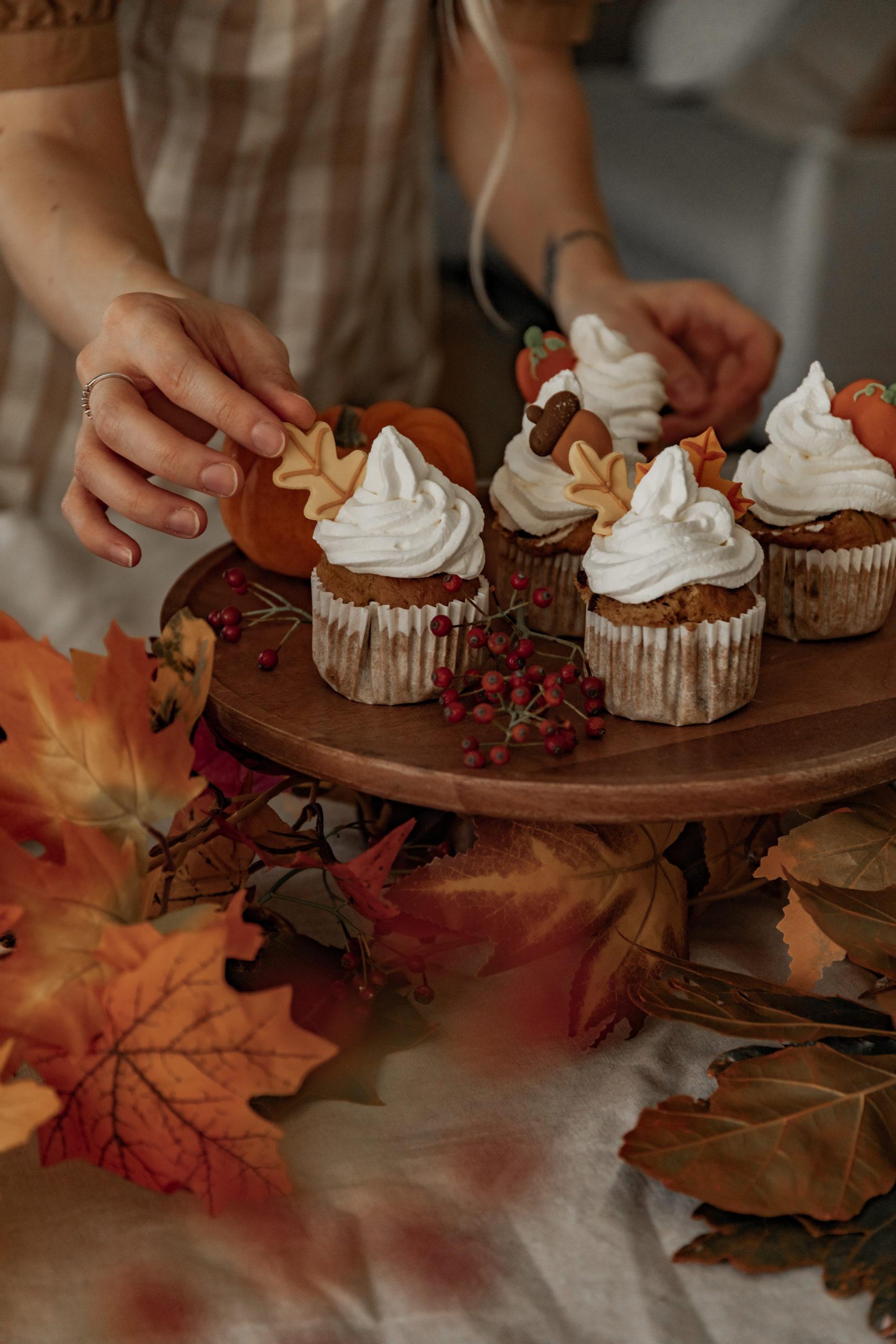 Cupcakes au potimarron & aux pépites de chocolat
